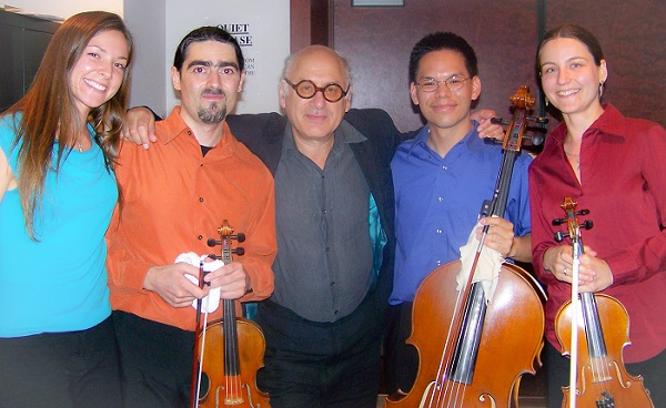 With Michael Nyman
